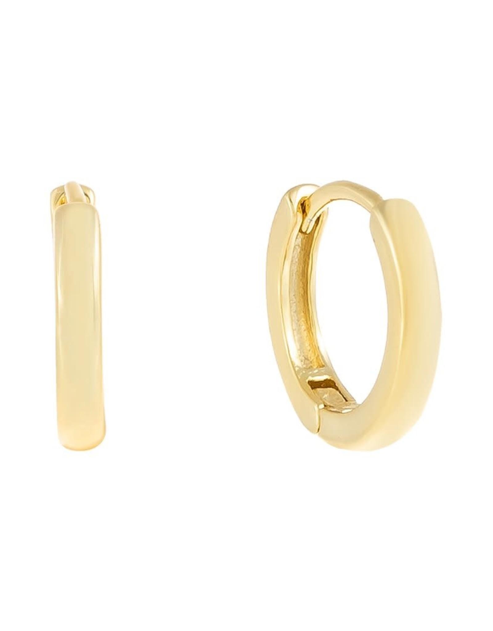 Adinas Plain Ring Huggie Earrings