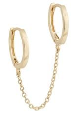 Adinas Solid Double Chain Huggie Earrings