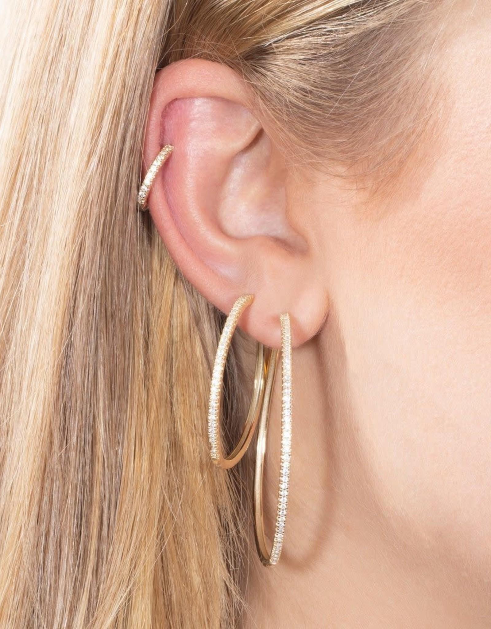 Adinas CZ Hoop Earring Combo 3 Set