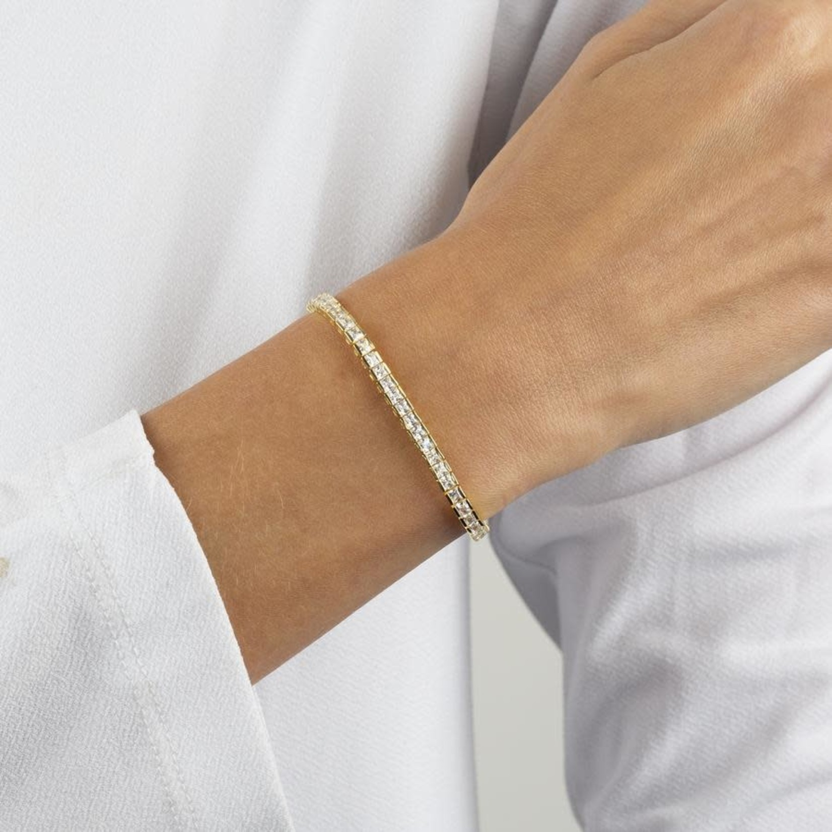Adinas Princess Cut Tennis Bracelet