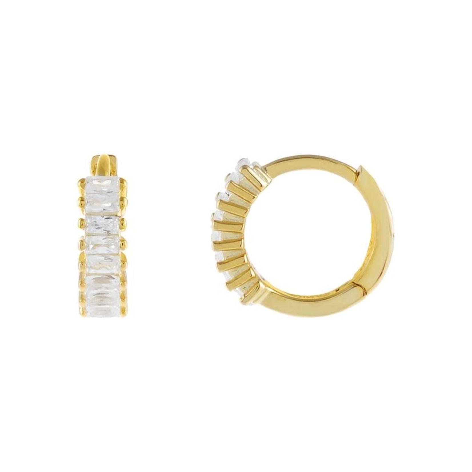 Adinas Baguette Huggie Earrings