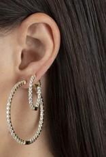 Adinas CZ Thin Round Hoop Earrings