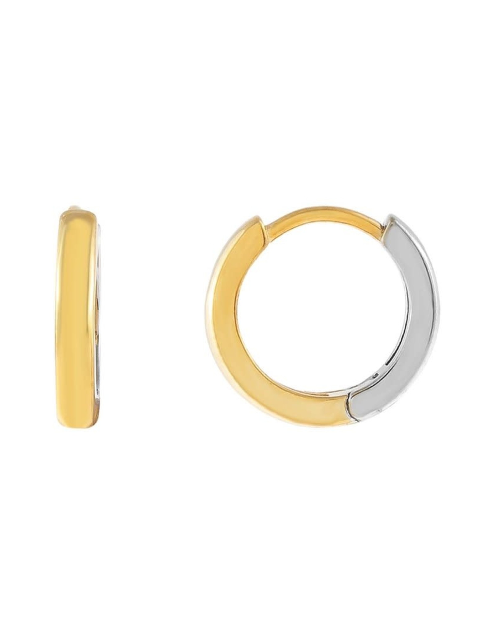 Adinas Two Tone Huggie Earrings