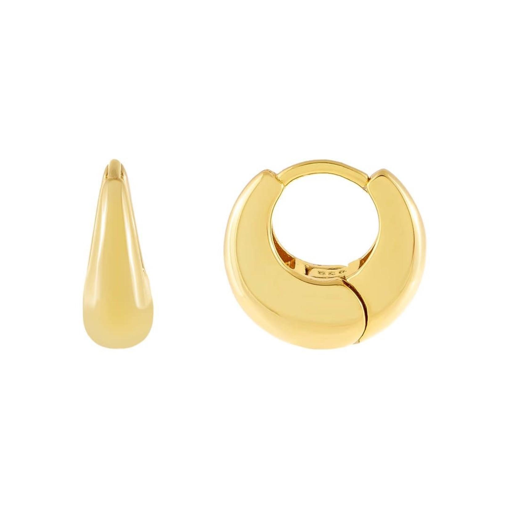 Adinas Wide Huggie Earrings