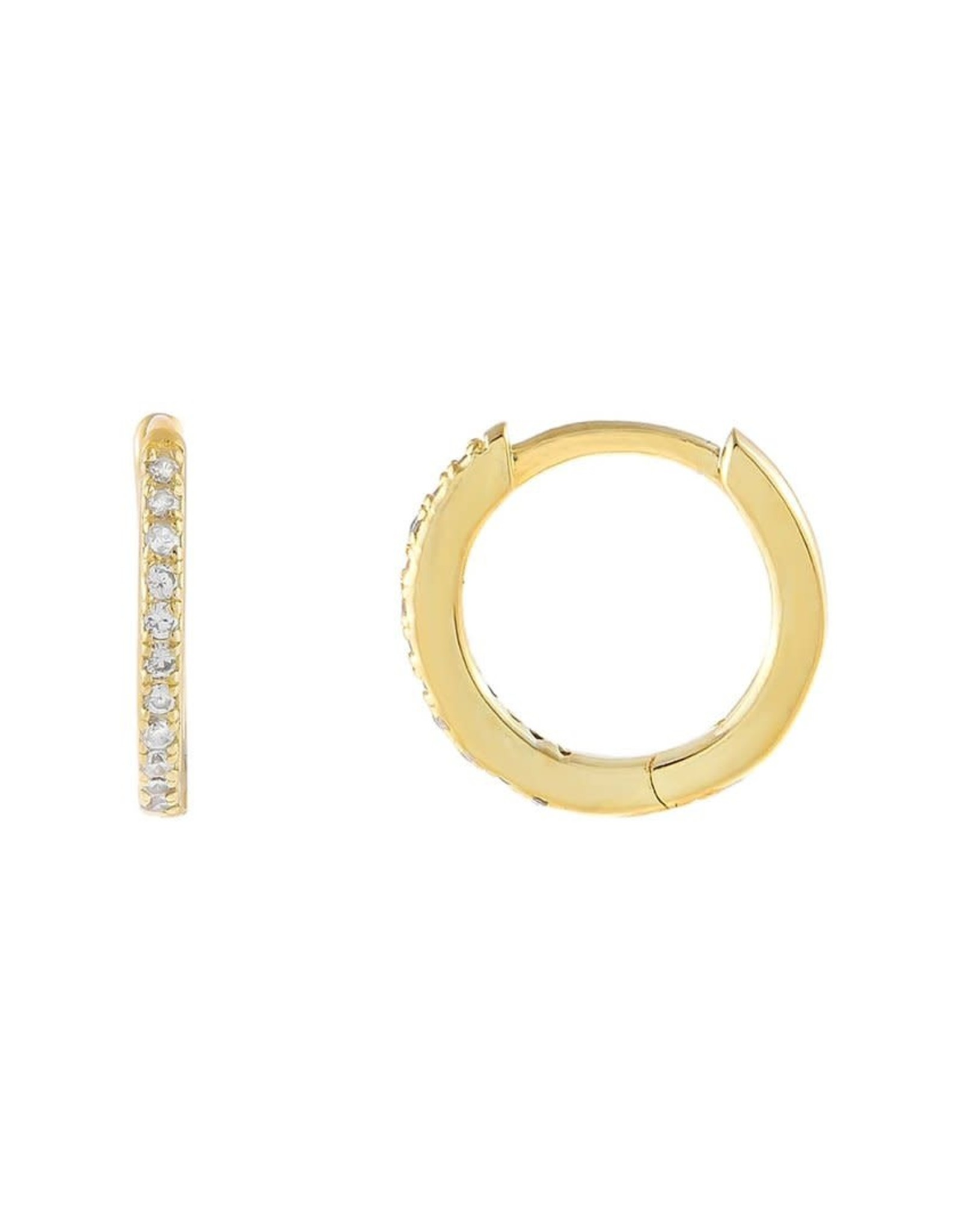 Adinas Micropavé CZ Huggie Earrings