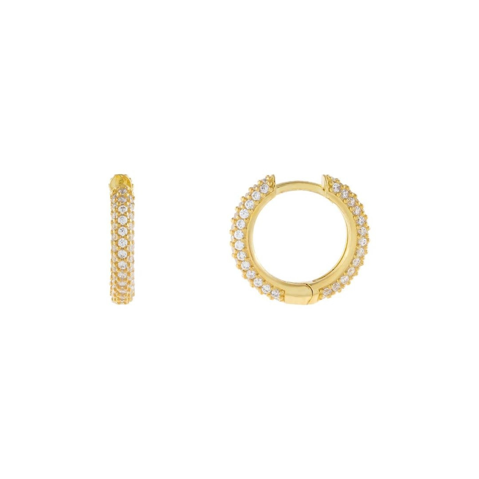 Adinas Pave Huggie Earrings