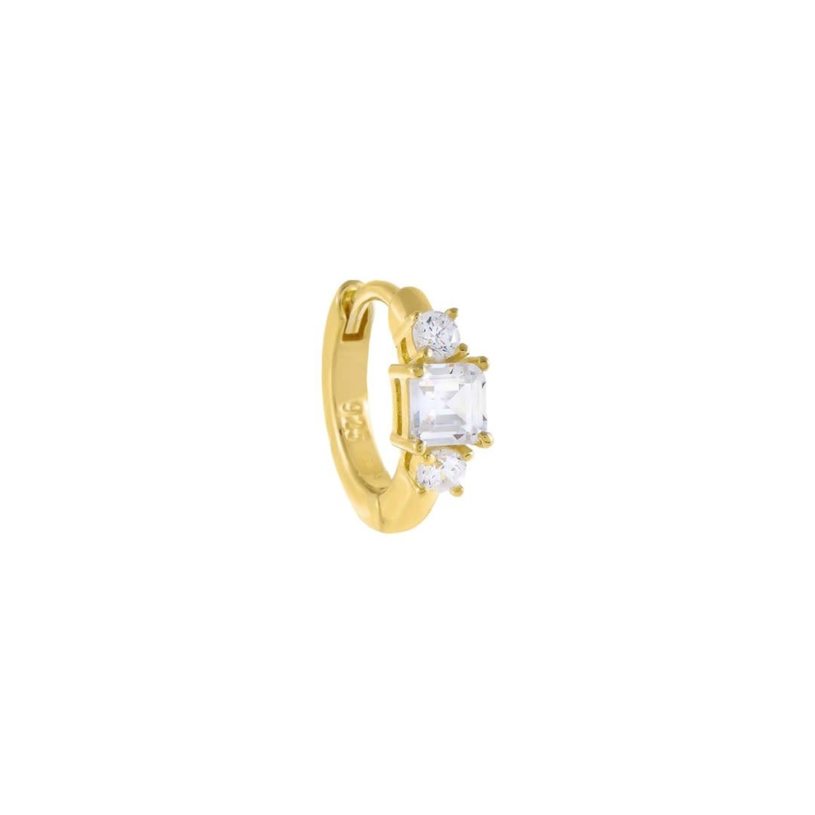 Adinas CZ Multi Stone Cartilage Huggie Earring Single