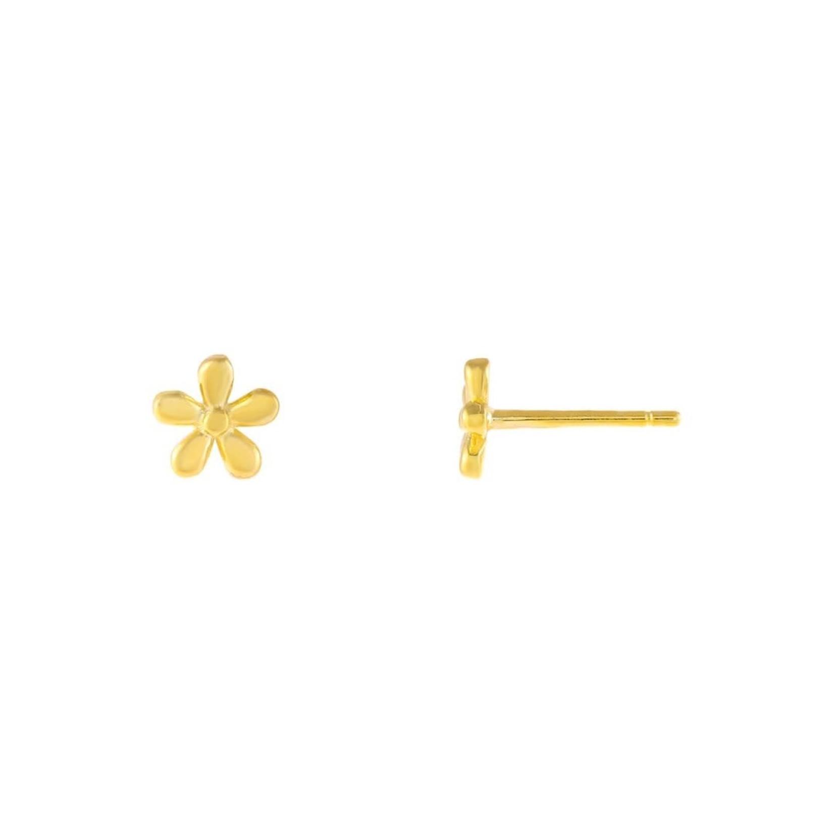 Adinas Solid Flower Stud Earrings