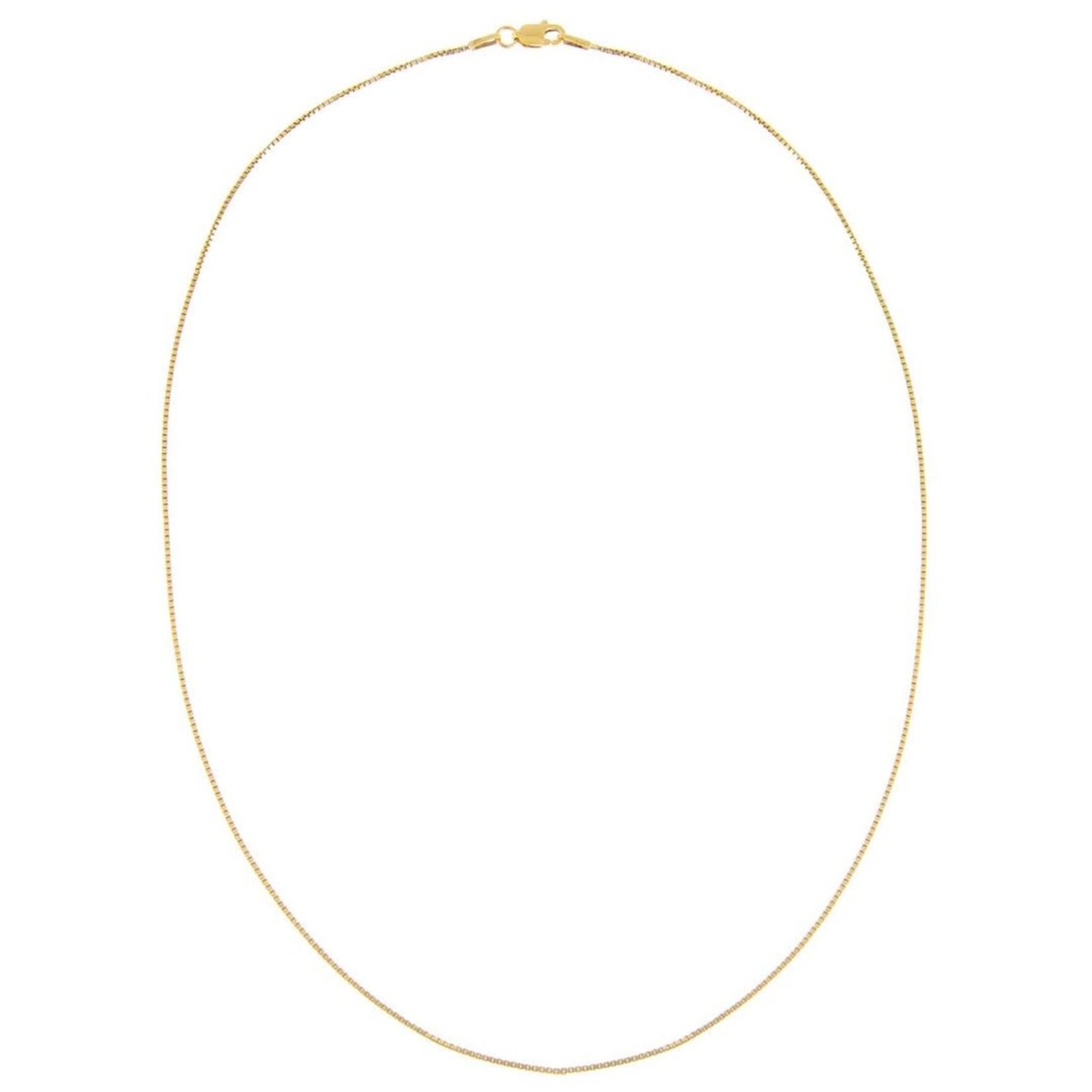 Adinas Thin Box Chain Necklace