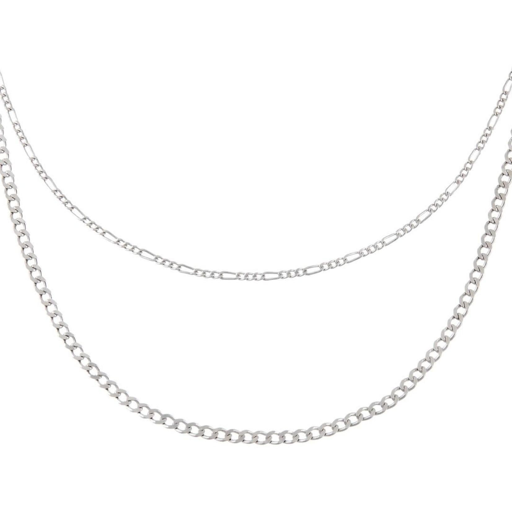 Adinas Double Chain Figaro Necklace