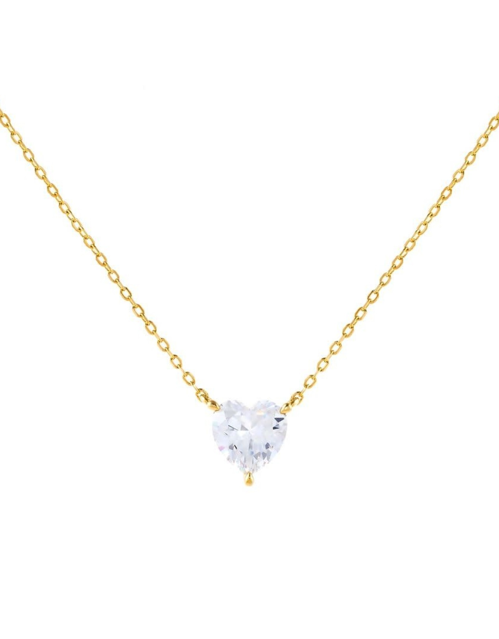 Adinas CZ Heart Stone Necklace