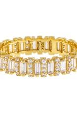 Adinas Pavé Baguette Ring