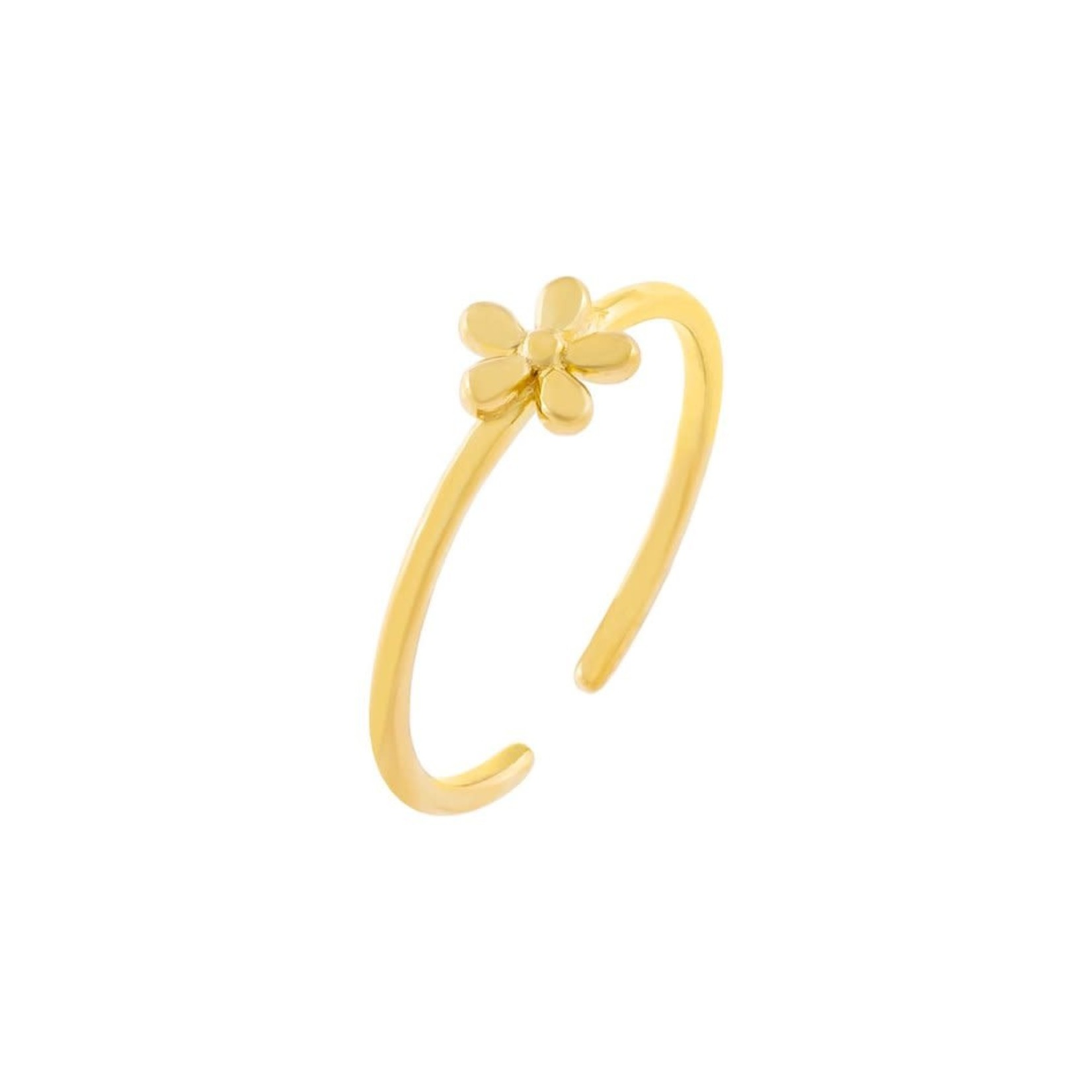 Adinas Solid Flower Adjustable Ring