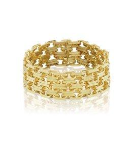 KBH Jewels Triple Bismark Ring Yellow Gold