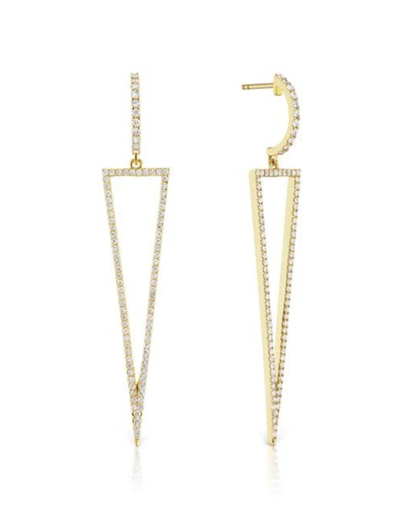 KBH Jewels Diamond Arrow Earrings