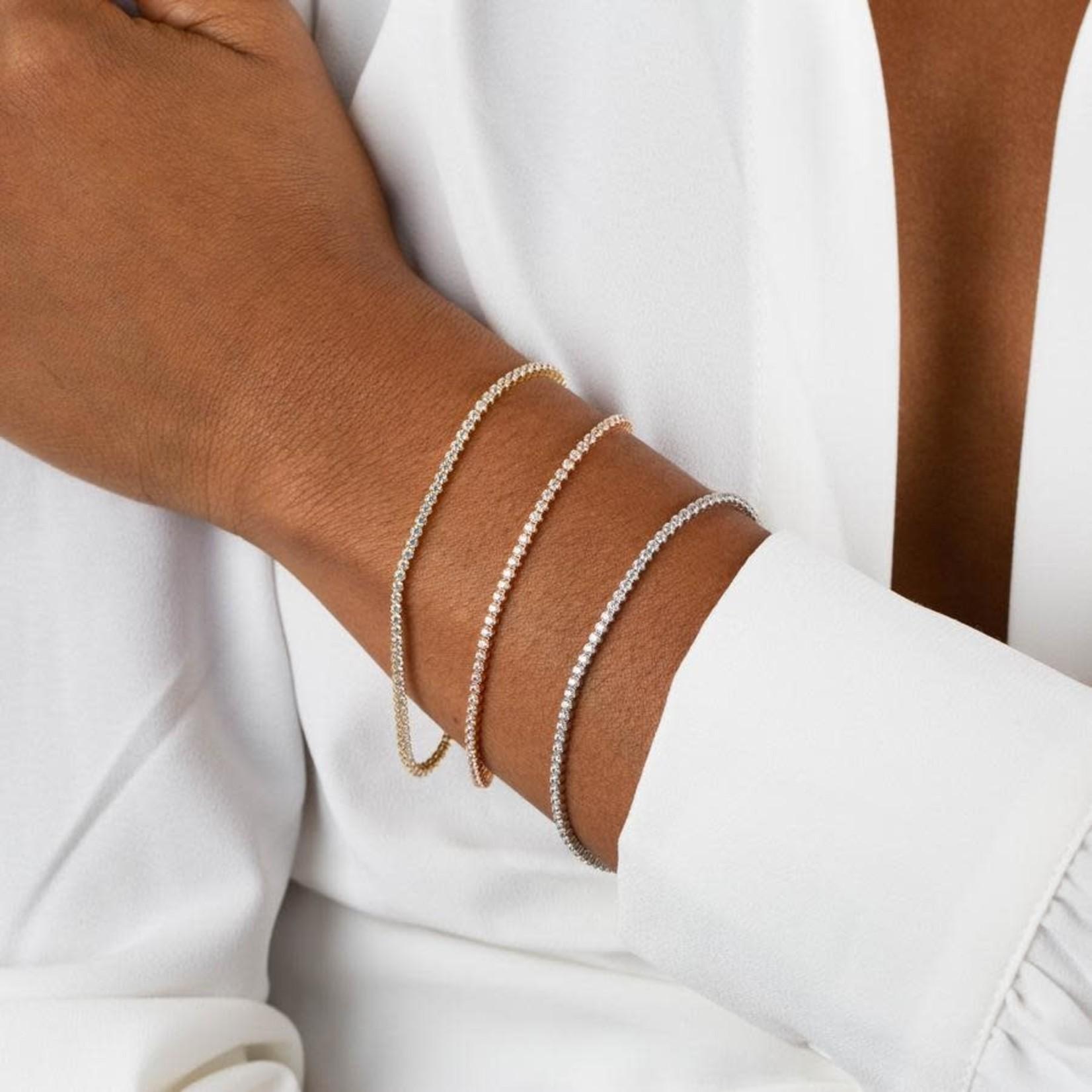 Adinas CZ Bezel Tennis Bracelet 14k