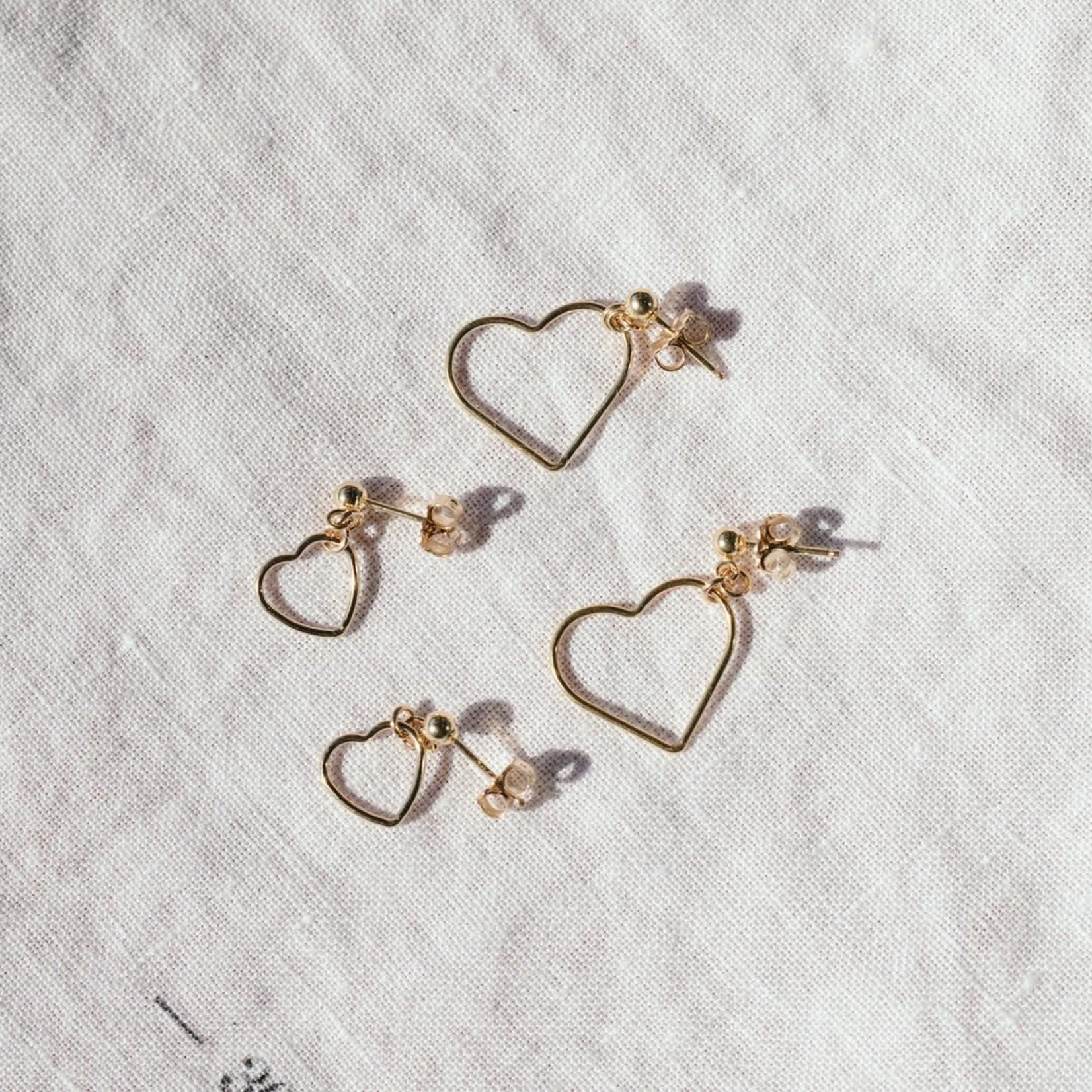 Elvis et Moi Medium Stud Heart Earrings
