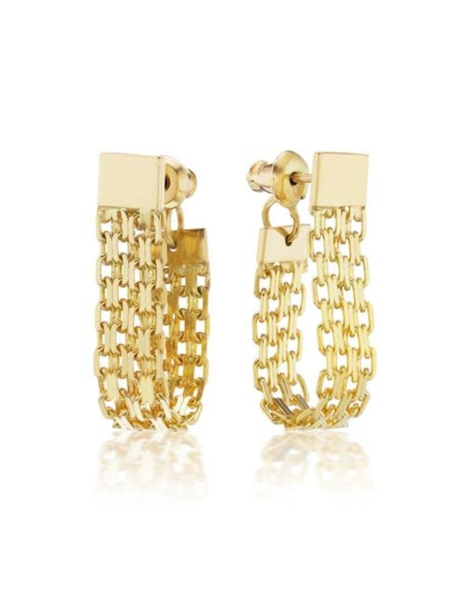 KBH Jewels Triple Bismark Loop Earrings