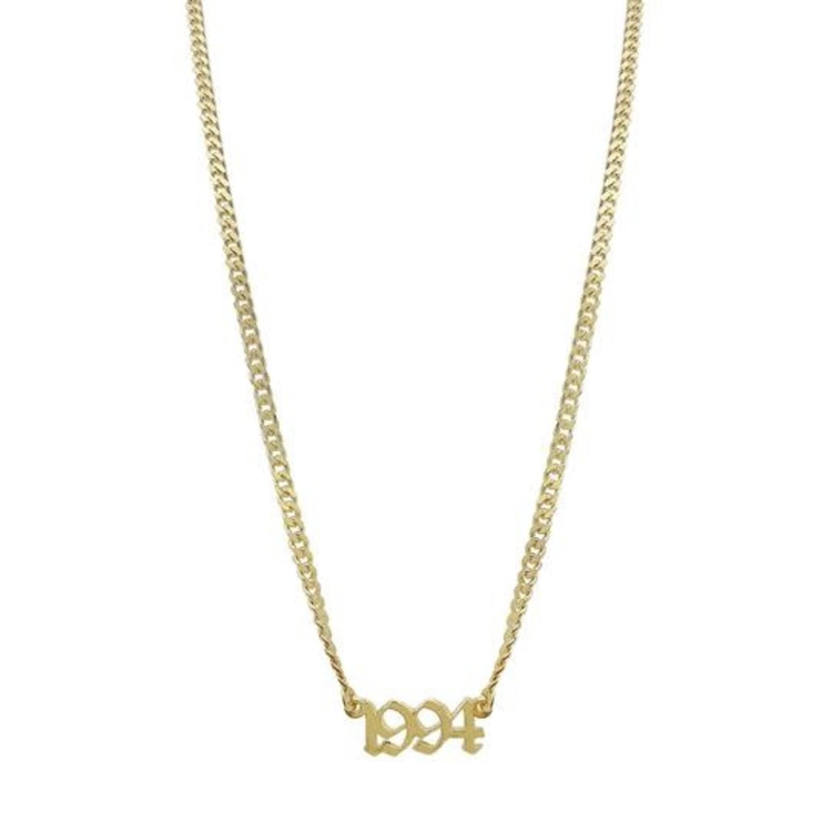 Adinas Gothic Year Nameplate Necklace
