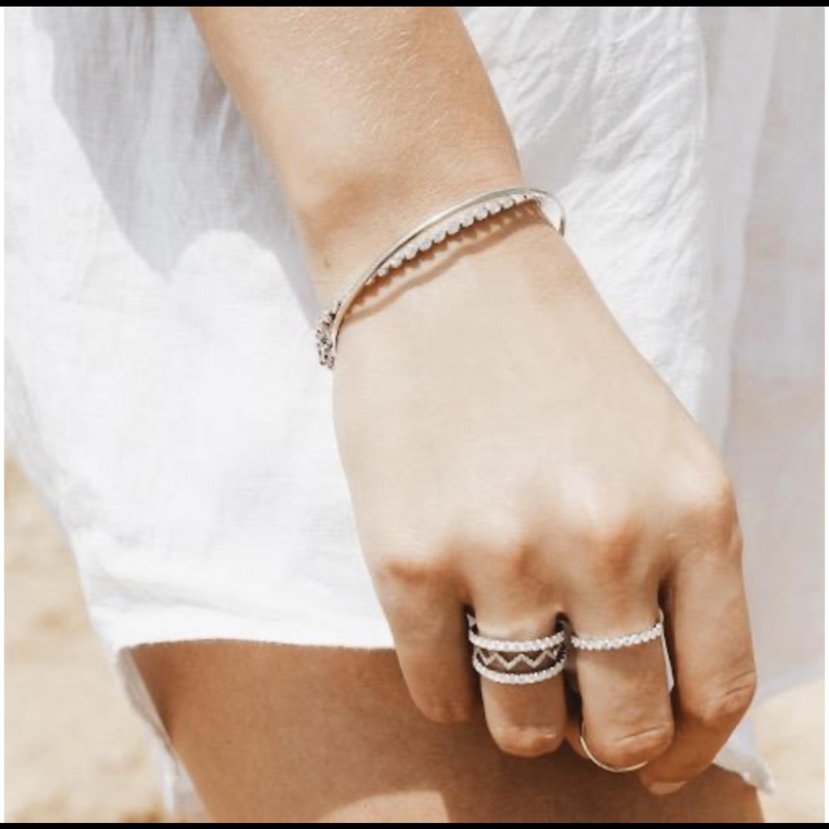 KBH Jewels Diamond Bezel Stack 14K White Gold