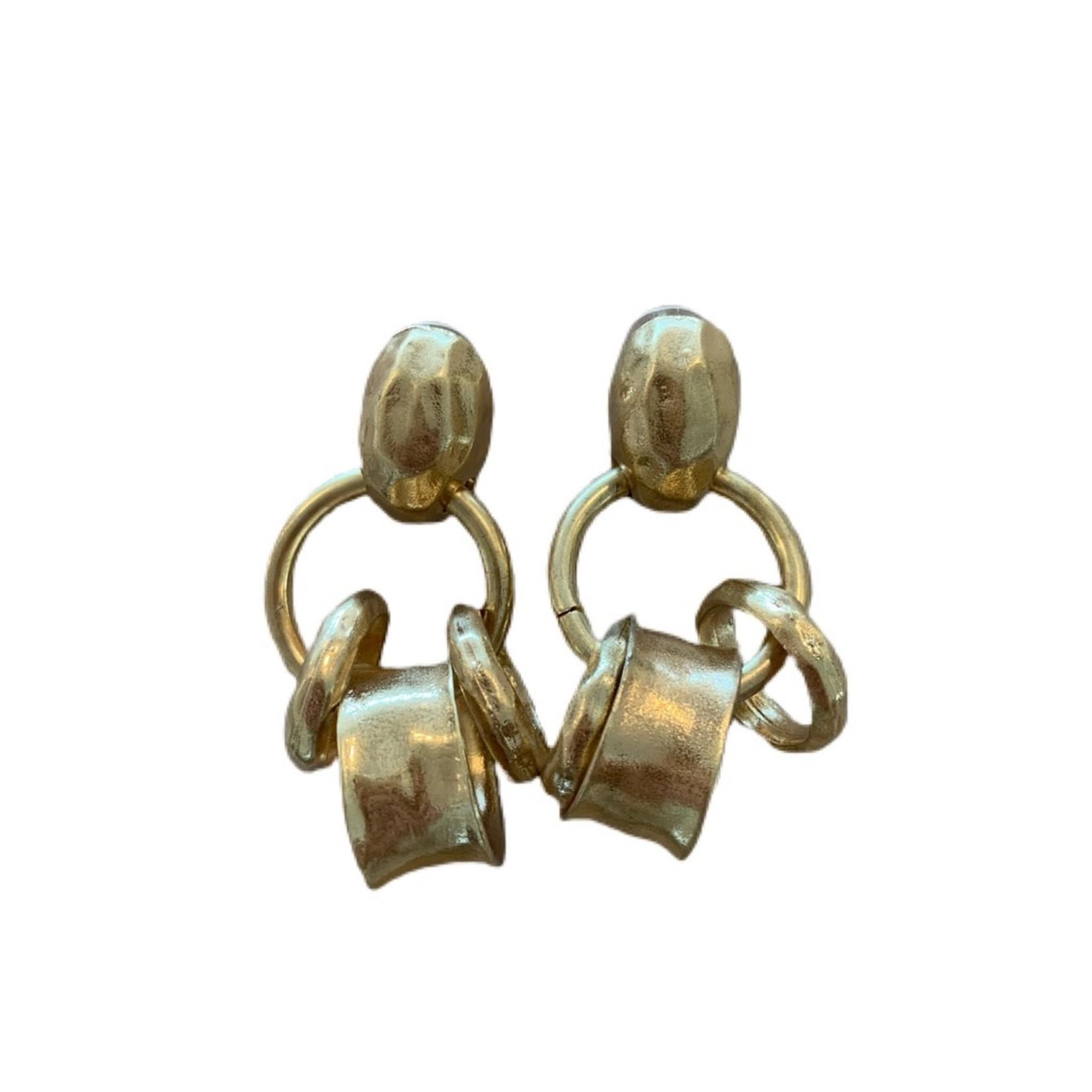 Wyld Blue Triple Charm Drop Earrings