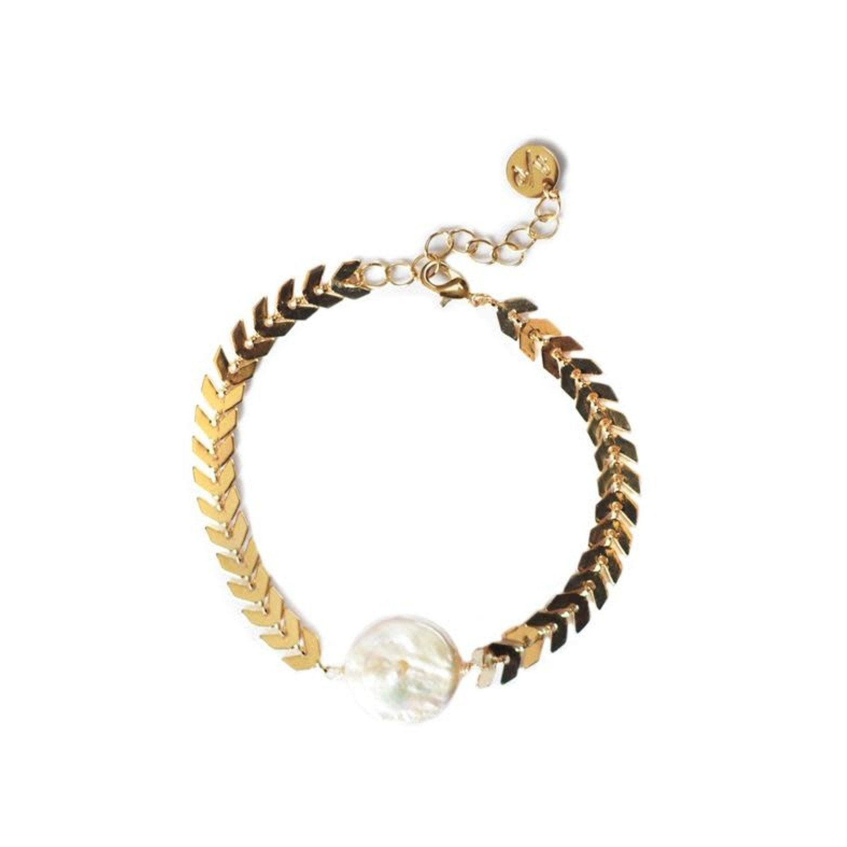 Adriana Pappas Chevron Pearl Bracelet