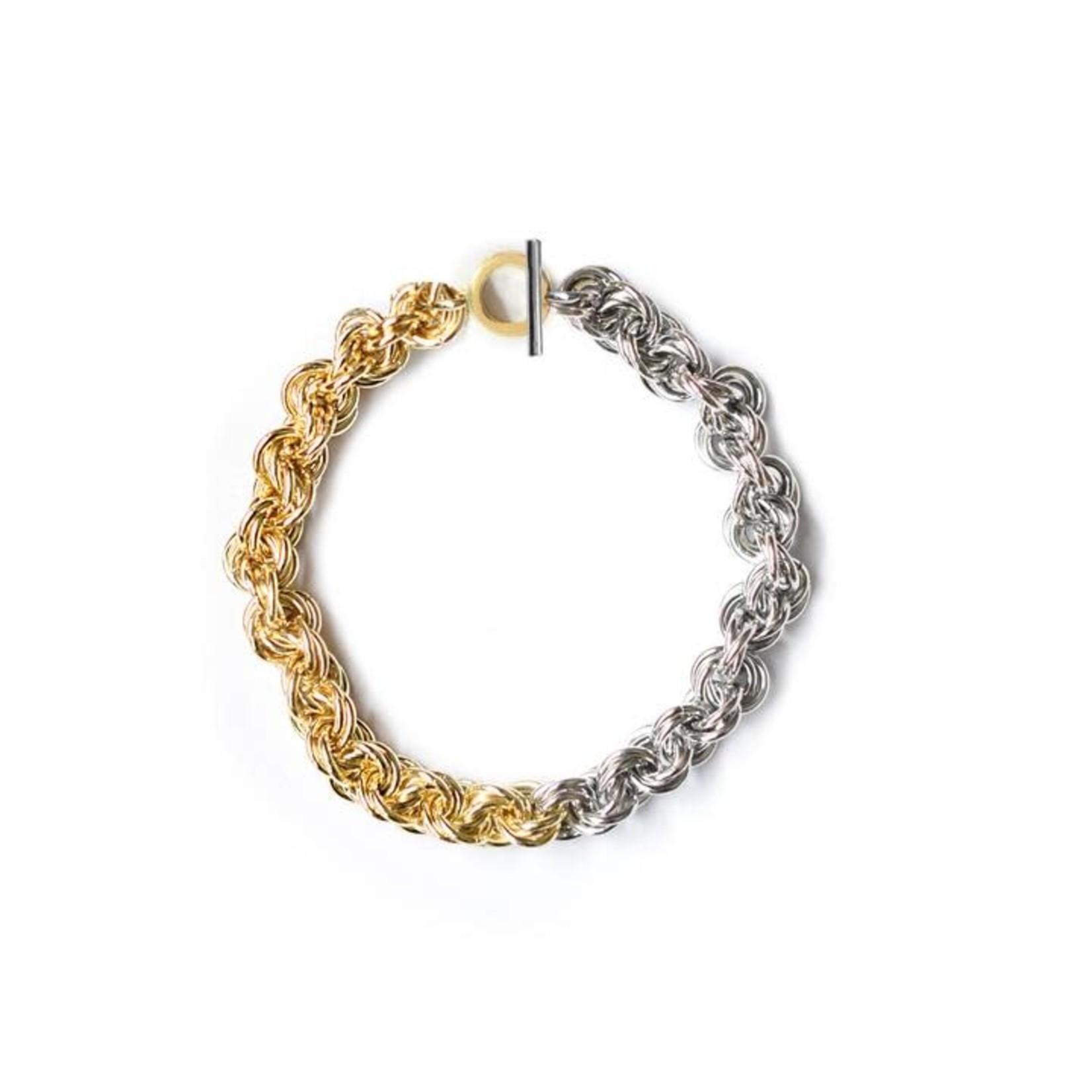 Adriana Pappas Mixed Metal Bracelet