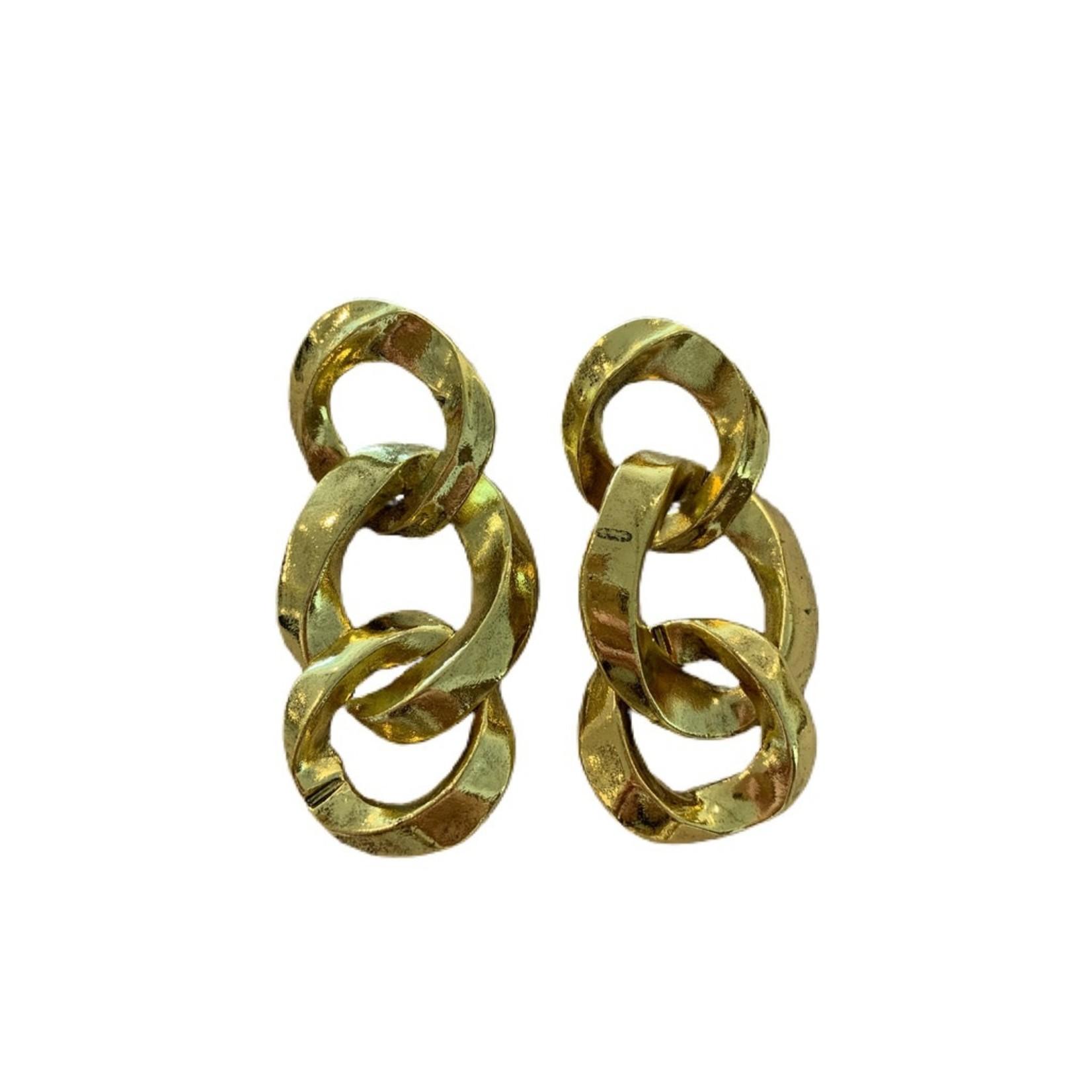 Wyld Blue Chunky Chain Link Earrings