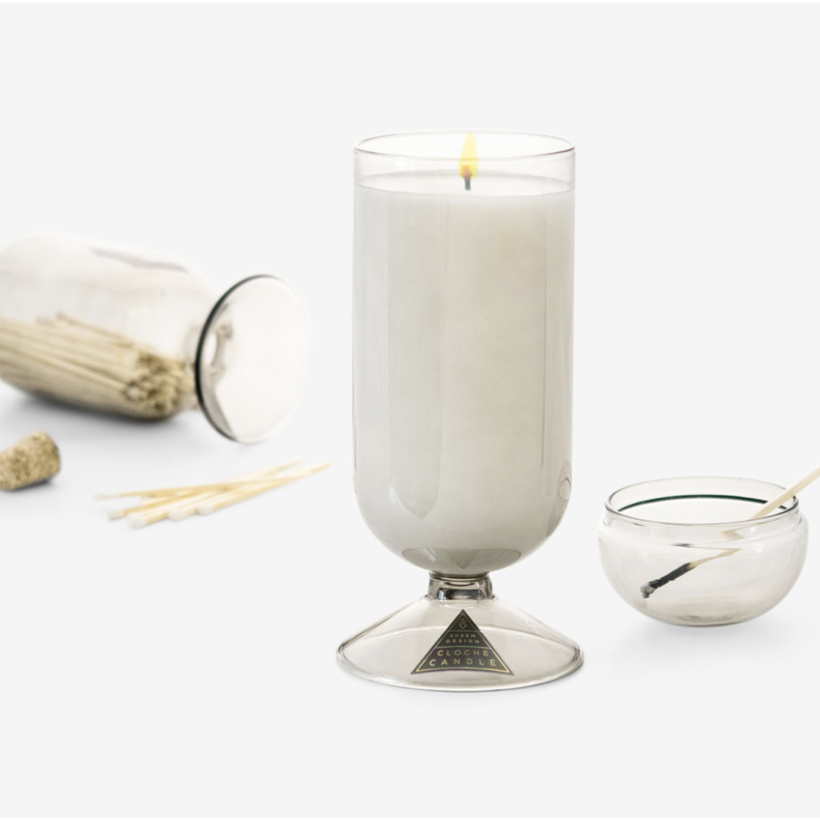 Wyld Blue Home Cloche Candle
