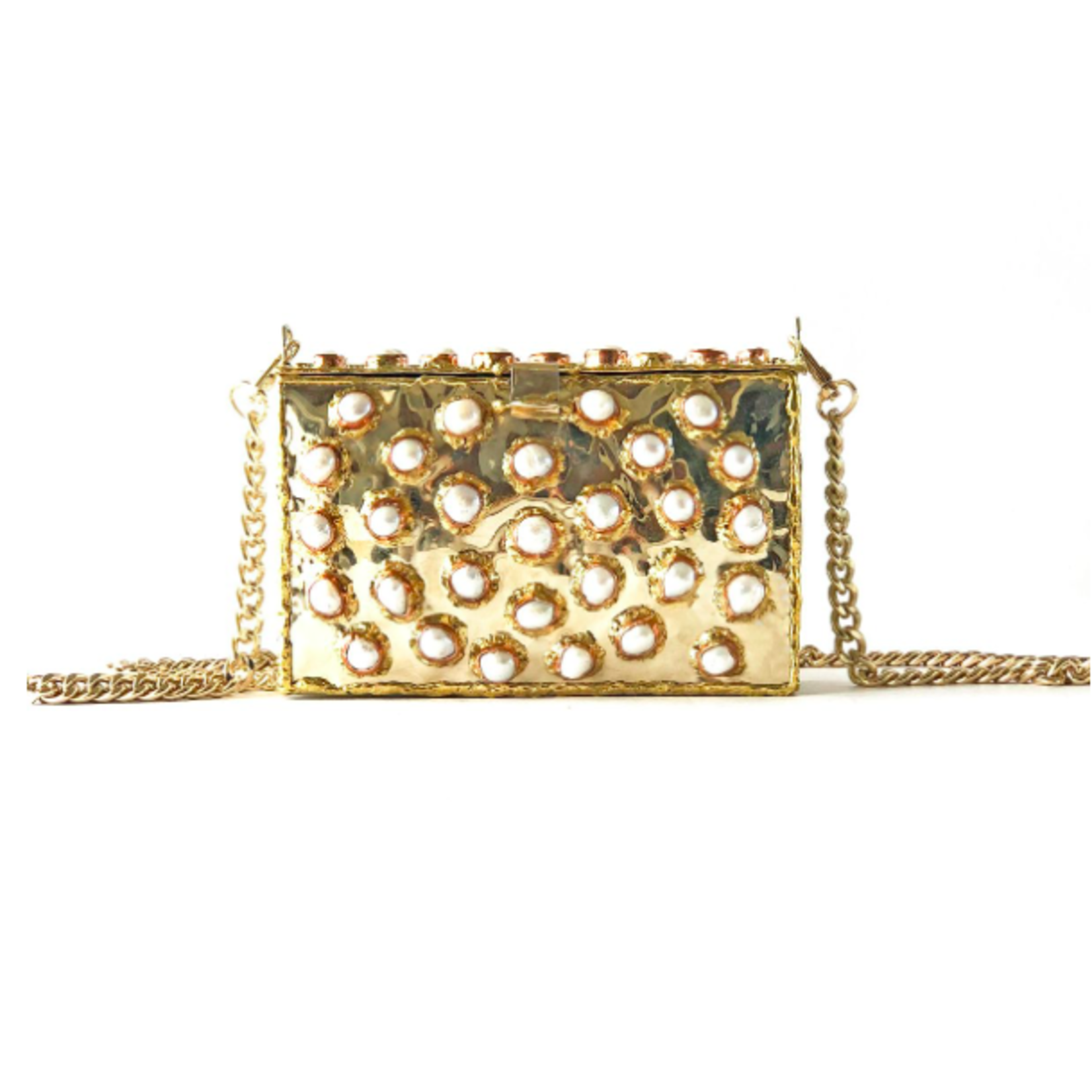 Entre Piedras Pearl Rectangular with Chain