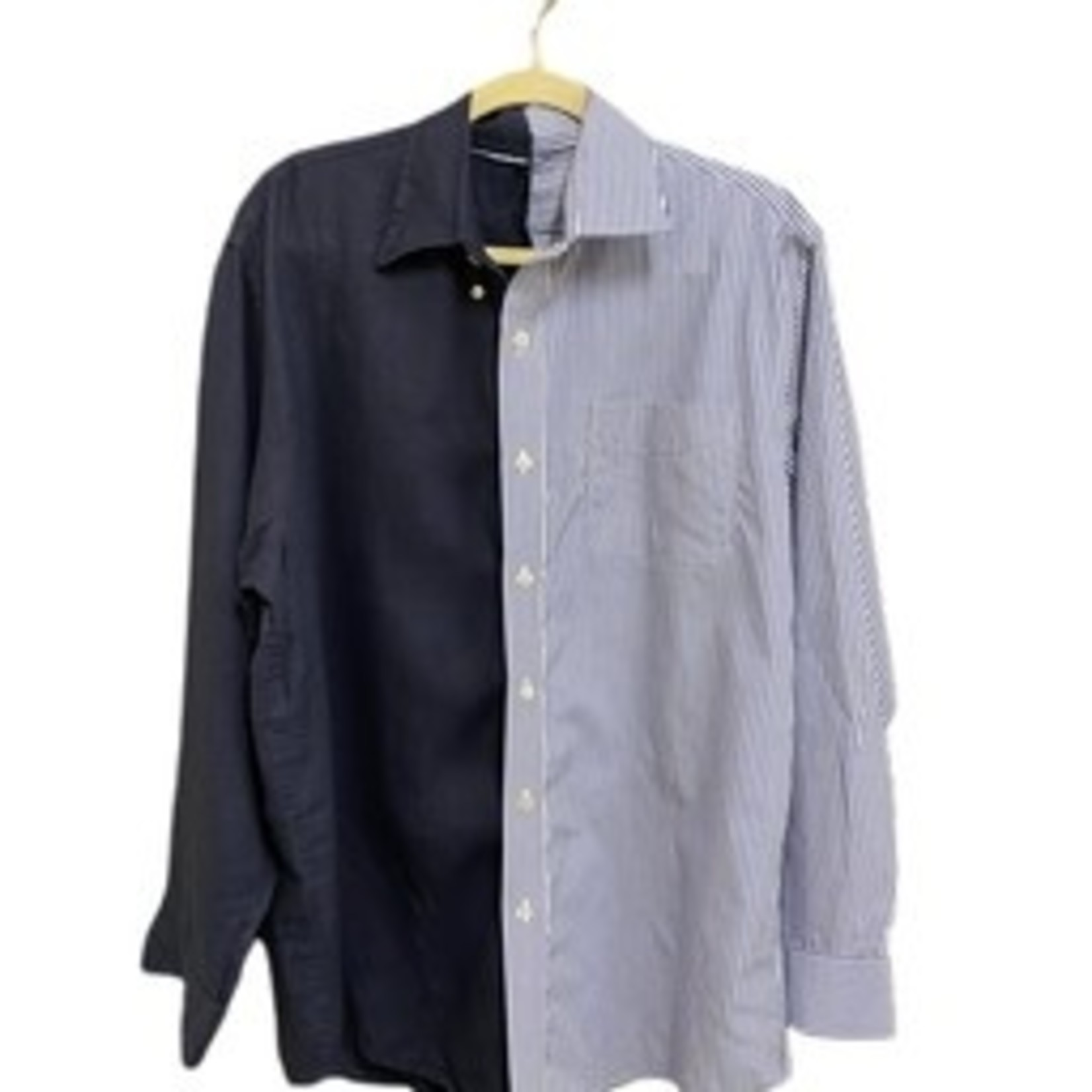Undone by Kate Two Tone Button Down