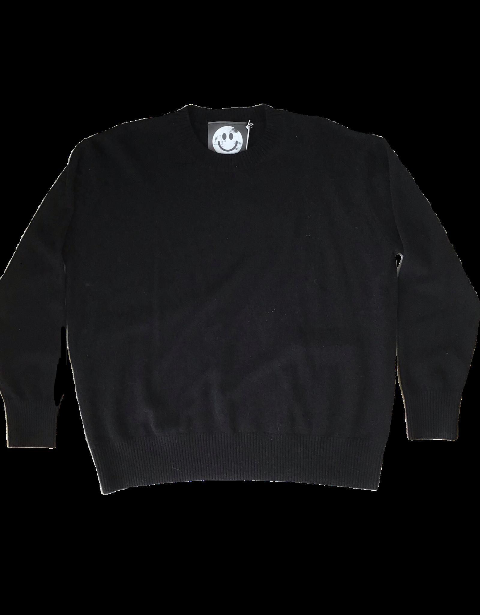 Zenzee Cashmere Black Crew Neck Sweater