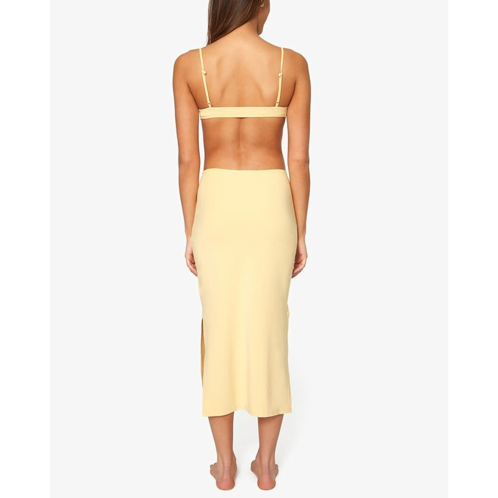Shop WeWoreWhat Ruched Cutout Maxi Dress Sand
