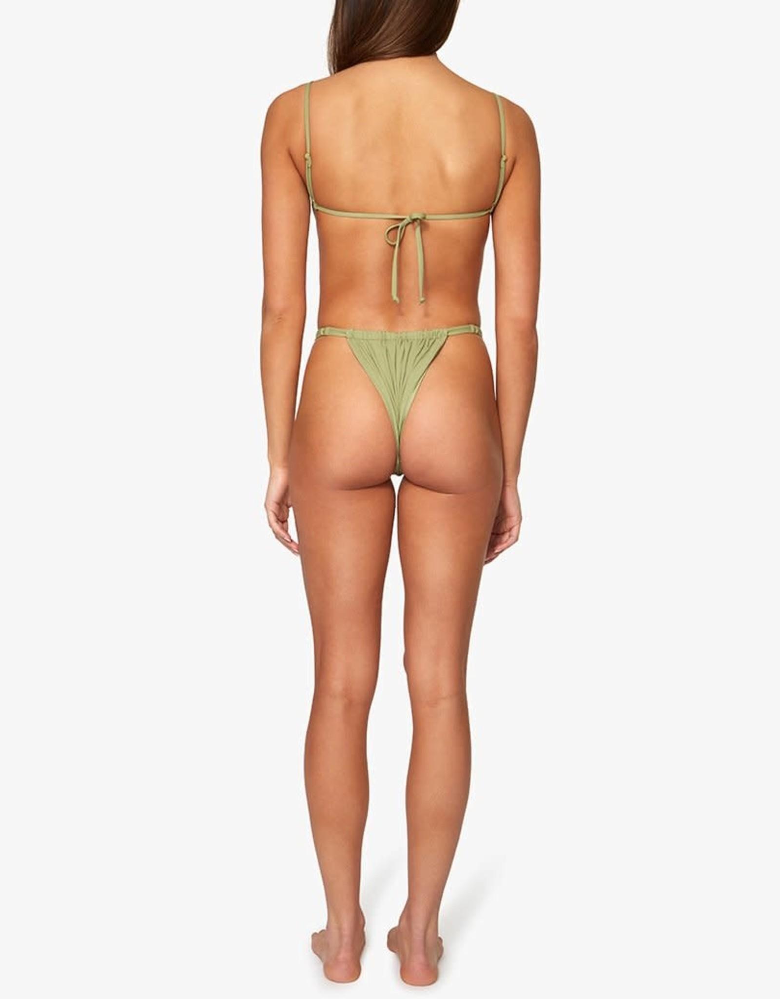 Shop WeWoreWhat Ruched Bikini Bottom Sage