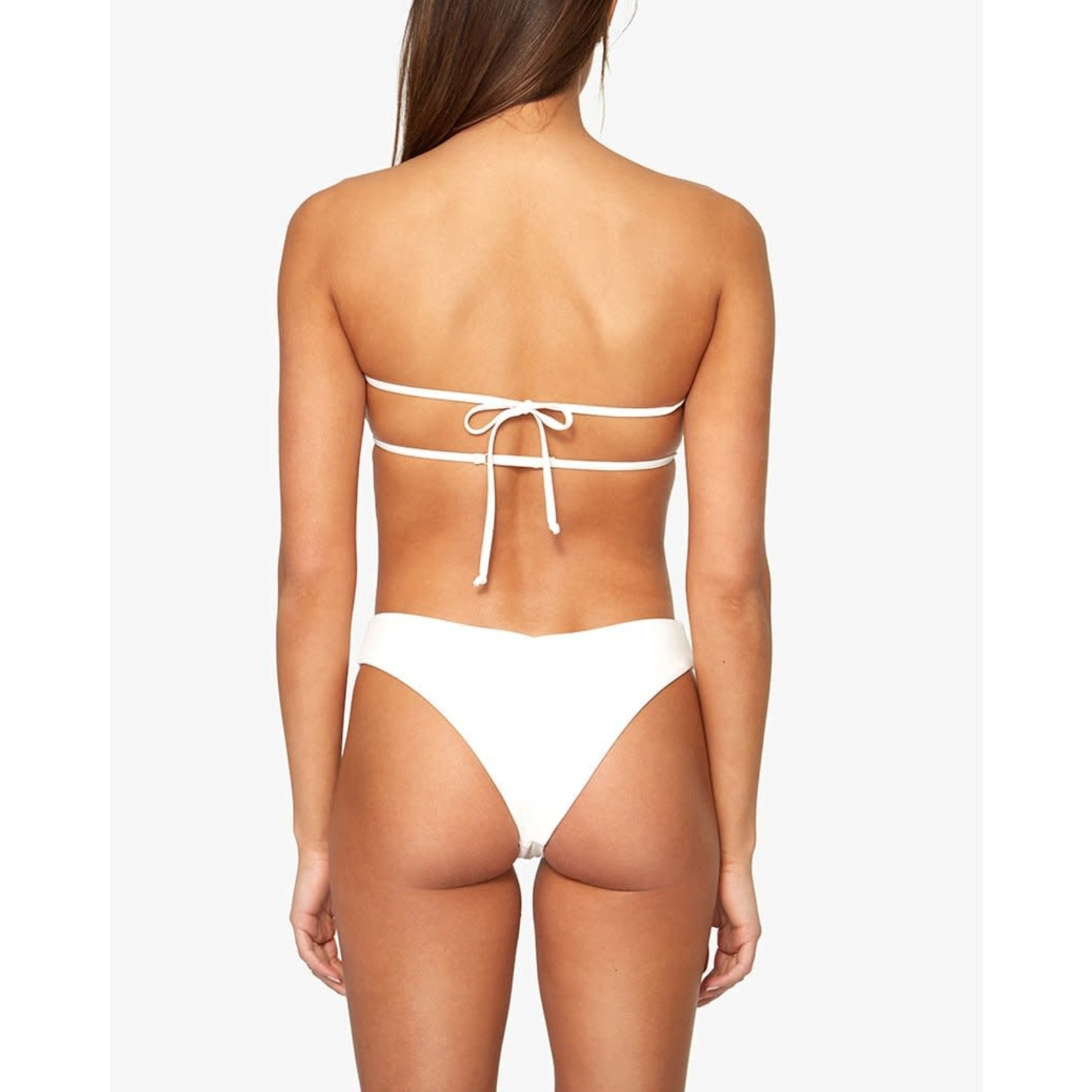 Shop WeWoreWhat Ruched Bandeau Top Off White