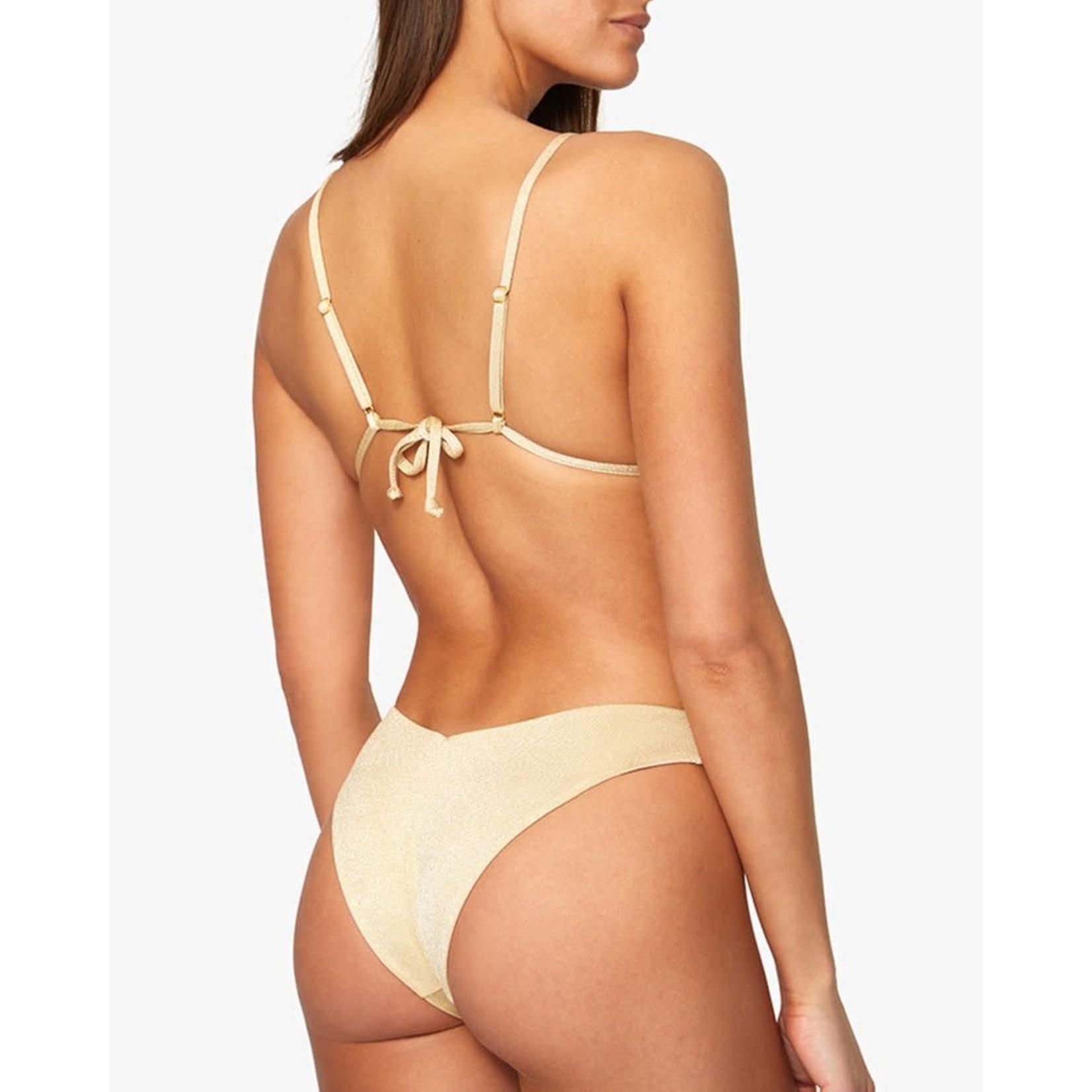 Shop WeWoreWhat Cowl Neck Glitter Bikini Top