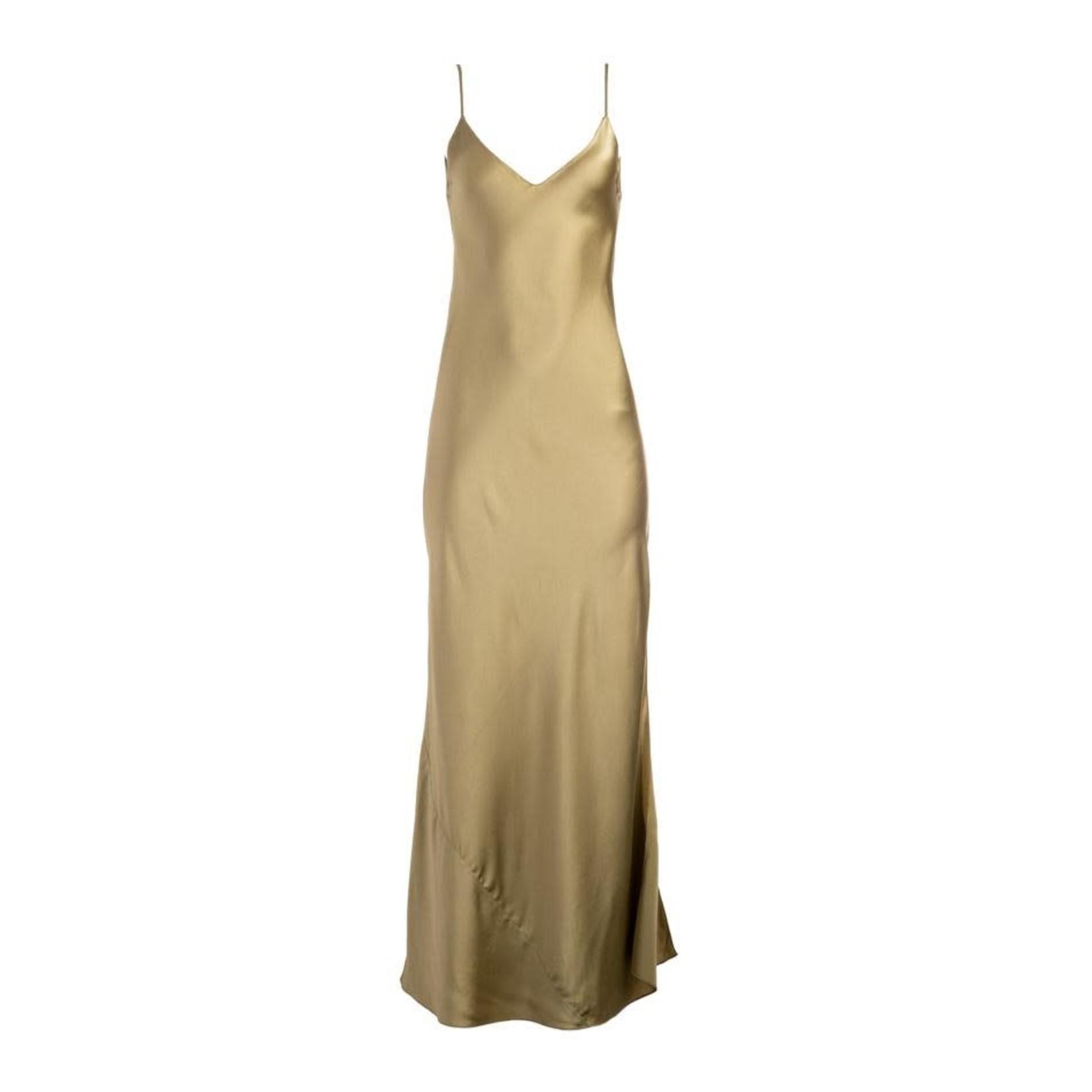 Dannijo Khaki Long Slip Dress