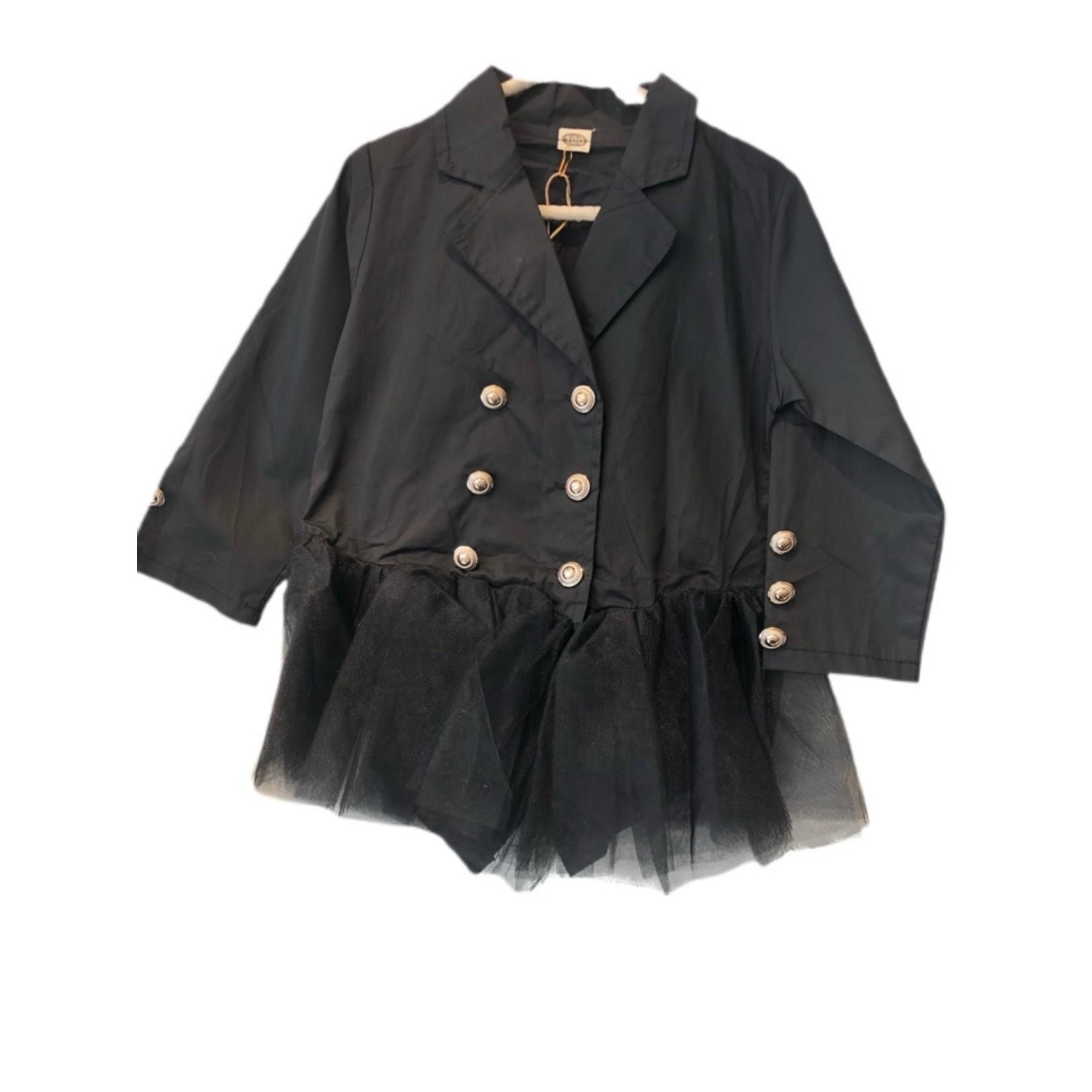 Wyld Blue Kids Blazer Tutu Dress Black