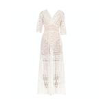 Wyld Blue Vintage MORPHEW COLLECTION White Edwardian Organic Cotton Voile & Lace Wrap Dress