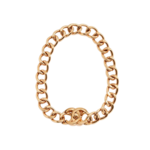 What Goes Around Comes Around Chanel Chunky Turnlock Necklace - Gold