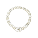 What Goes Around Comes Around Chanel Turnlock Necklace - Silver