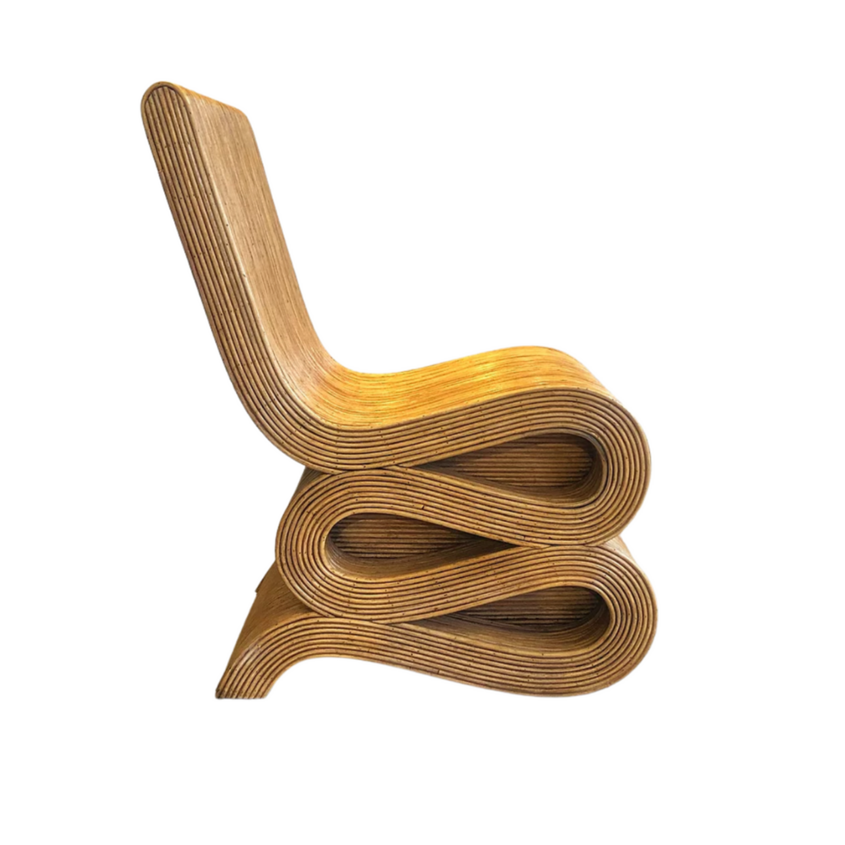 Wyld Blue Home Natural Rattan Snake Chair