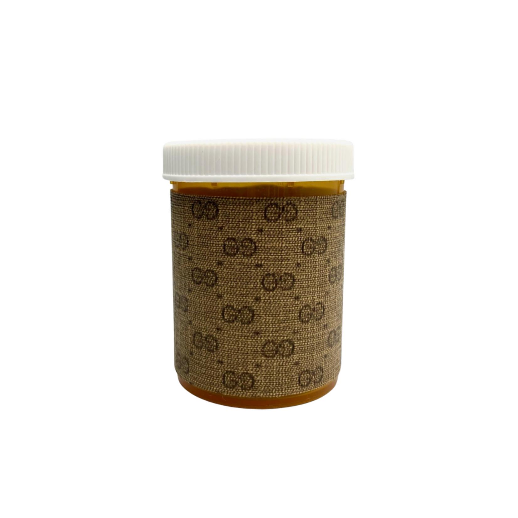 Sarah Coleman Designer Grey Monogram Pill Bottle Large