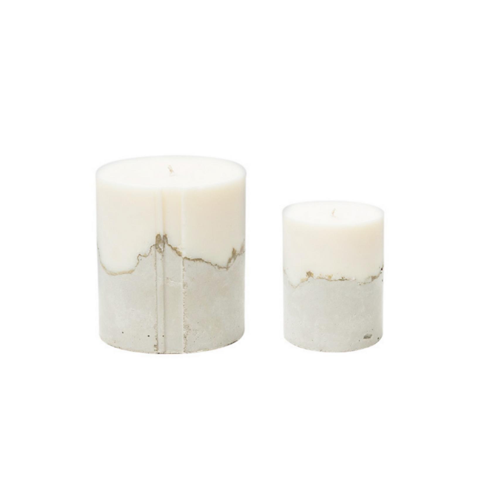 Concrete Love Palmarosa White Concrete Candle