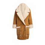 Arjé Amo Reversible Shearling Coat Camel
