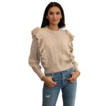 DH New York Farrah Ruffle Sweater