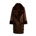 Arjé Amo Reversible Shearling Coat Mocha