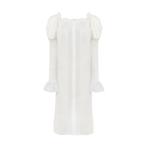 The Sleeper Opera Silk Dress Pearl White