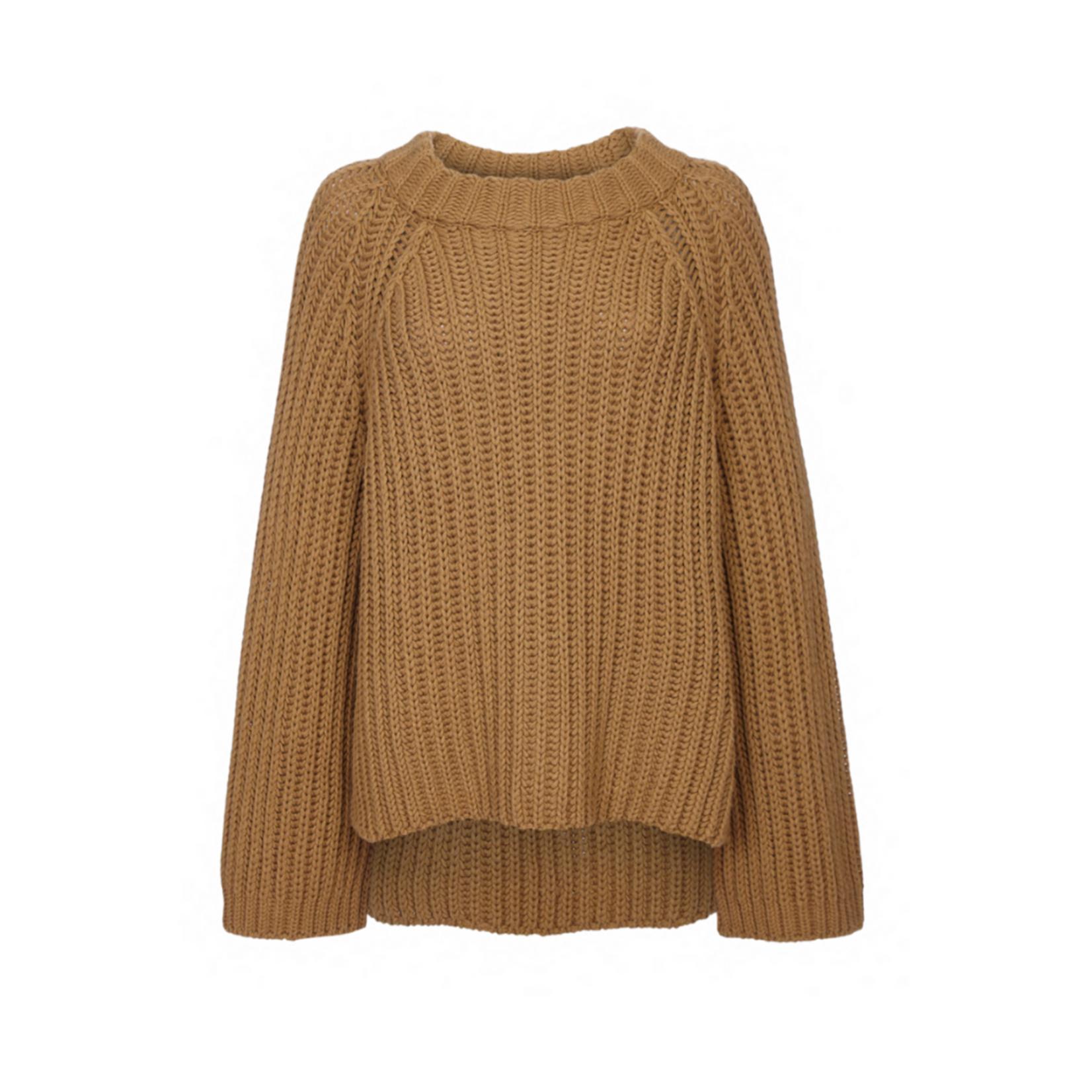 Arjé The Steph Cashmere Blend Rib Neck Open Sweater