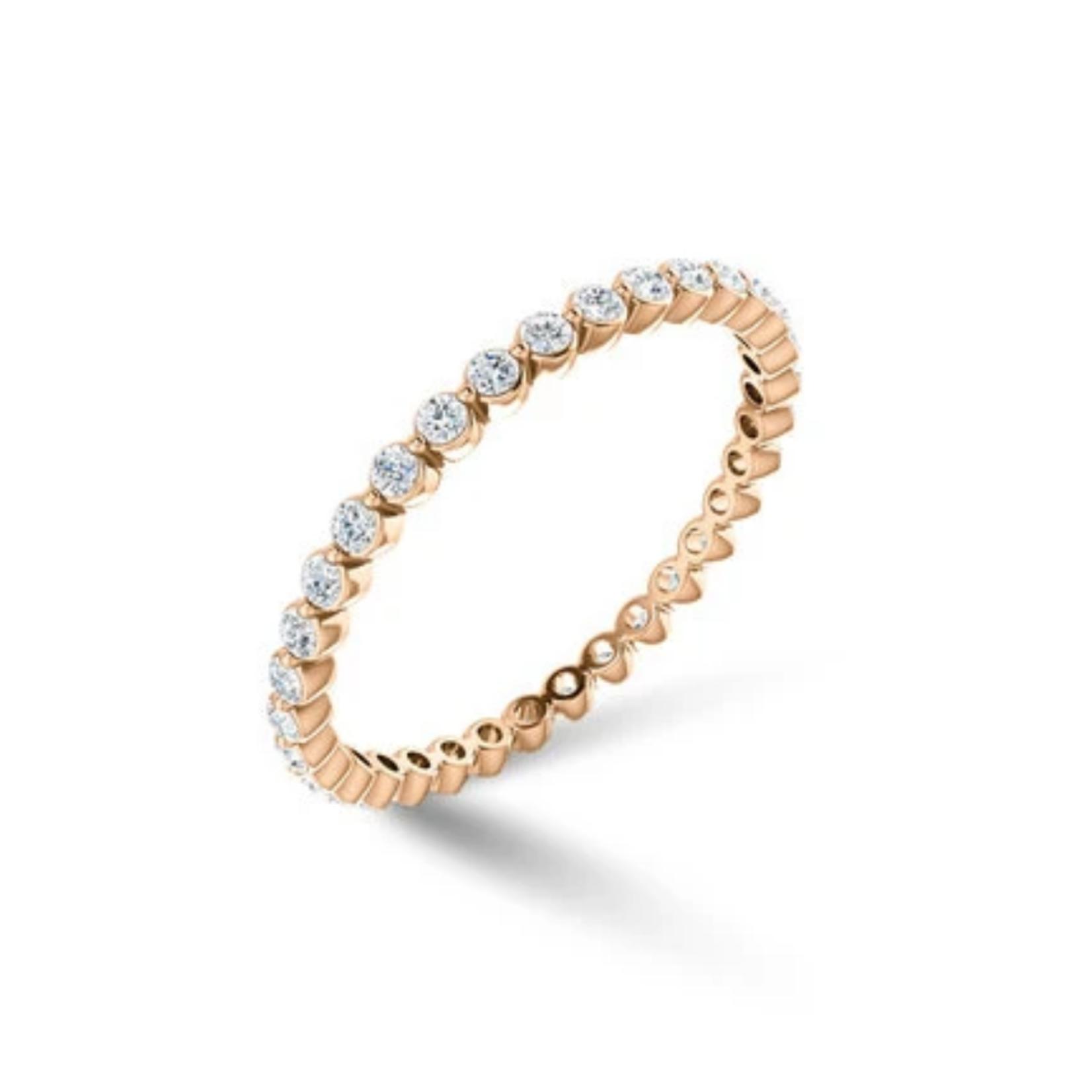 KBH Jewels Diamond Bezel Stack 14K Rose Gold